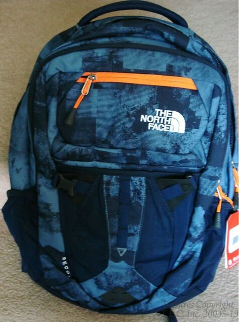 115b83c89 The North Face Unisex Recon Backpack Cool Blue Texture Block Print/shocking  O