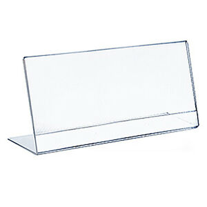 Acrylic Clear Top Load Sign Holder 4.25W x 11H Inches Case of 10