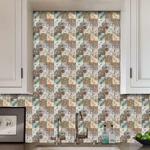 6pcs PVC Waterproof Mosaic Tile Wall Sticker Kitchen Tiles Decals Decor 20x20cm