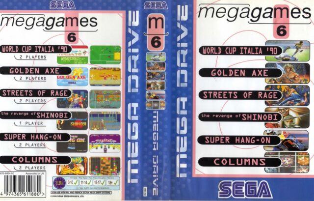 - Mega Games 6 MEGA DRIVE GENESIS JP remplacement Box Art Case Insert Housse Uniquement