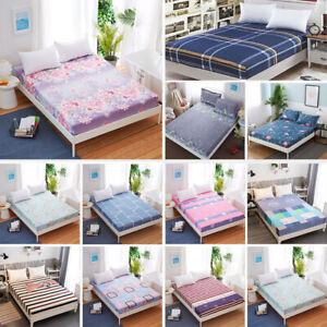 Floral-Imprime-Drap-Housse-Simple-Double-King-Coton-Drap-Housse-Toutes-Tailles