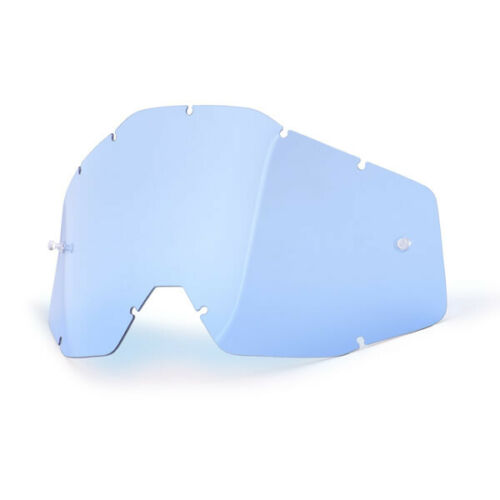 100/% MX Motocross Replacement Lens for Racecraft//Accuri//Strata Goggles Blue