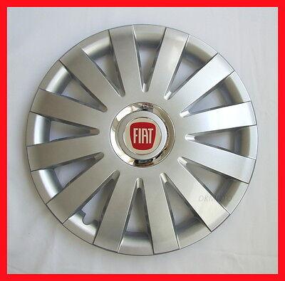 "4 x15"" Wheel trims fit Fiat Punto, Panda, Doblo, Multipla, Stilo, 500 - silver"