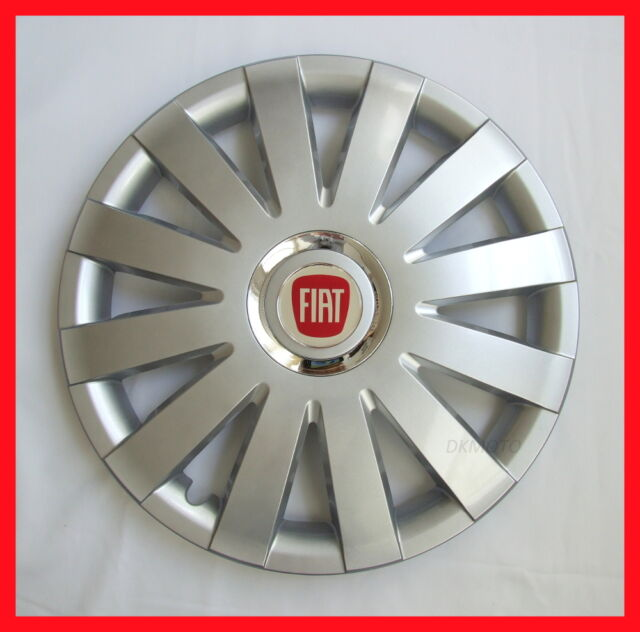 """4 x14"""" Wheel trims Wheel covers Hup caps fit Fiat 500 - silver 14''"""