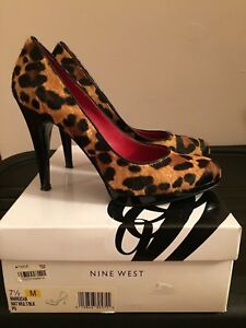 Nine West Animal Print Rocha Pumps size 7 1 2M 19846805755  d566c100a