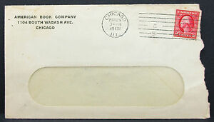 US-American-Book-Company-Cover-Chicago-Railway-Stamp-2c-1913-USA-Letter-H-7996