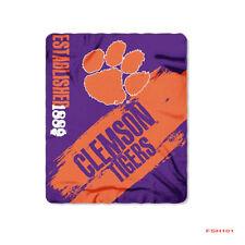 "Brand New NCAA Clemson Tigers Large Soft Fleece Throw Blanket 50"" X 60"""