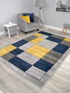 Dark Navy Blue Living Room Rugs Modern Small Extra Large Floor Carpets Mat Cheap