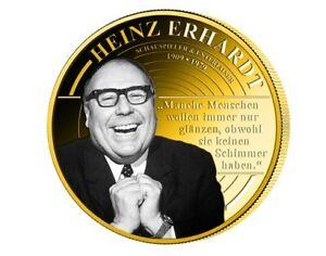 Heinz-Erhardt-Film-Schauspieler-Medaille-vergoldet-NEU