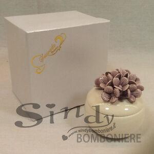 Bomboniere Ceramica Matrimonio.Dettagli Su Bomboniere Matrimonio Scatola Ceramica Come Porcellana Anniversario Battesimo