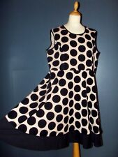PRASLIN ROBE DRESS POP FIFTIES DOTTIES T UK 20 OU 48/50