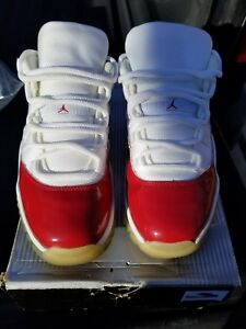 2001-Retro-Nike-Air-Jordan-11-Low-034-Cherry-034-White-Varsity-Red-Size-9-5-yeezy