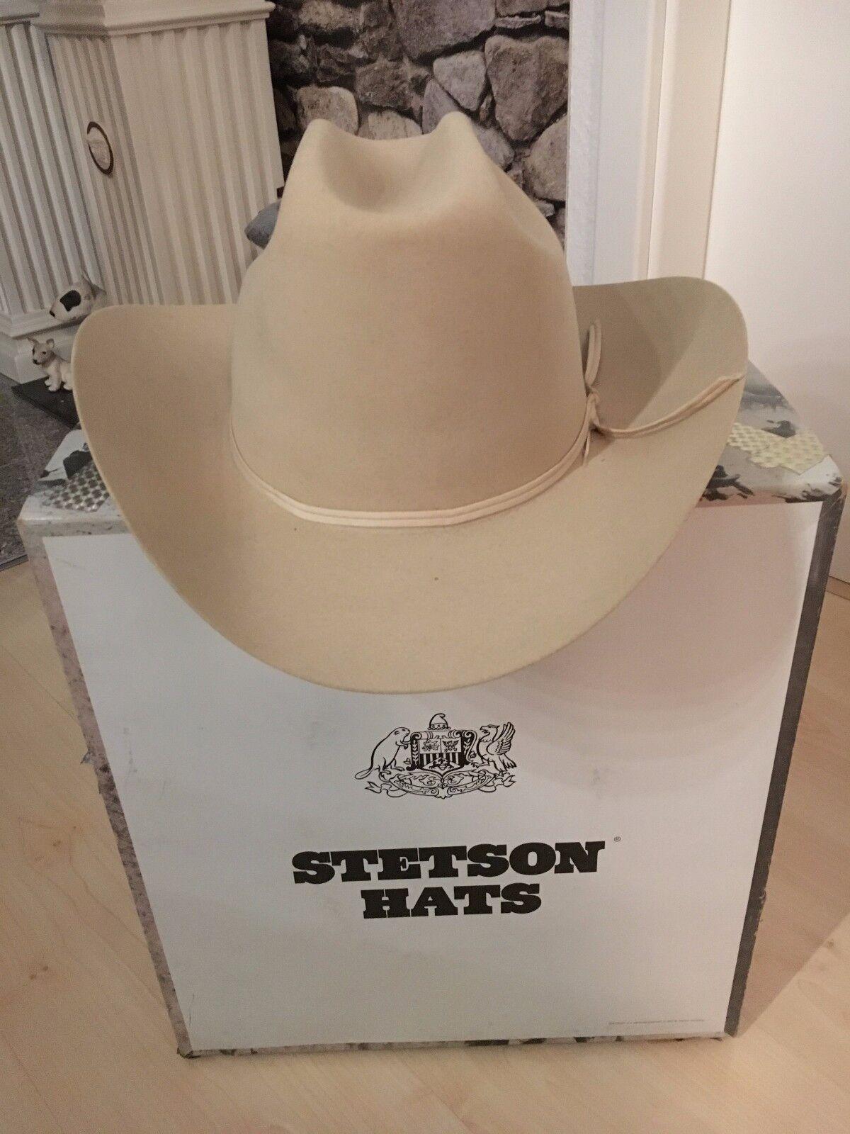 Stetson Hat 10 STARS VERY RARE TOP WESTERN COWBOY HAT LIGHT BEIGE Größe 7 5 8