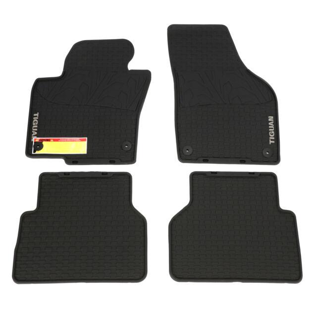 Onwards RHD Rubber Front /& Rear Floor Mats 2016 Genuine VW Volkswagen Tiguan
