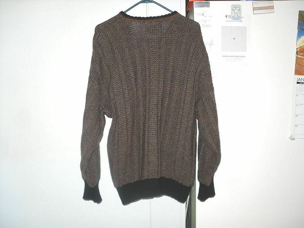 Inis Meain Fishermans Sweater M Medium 100% Wool … - image 3
