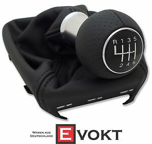 Audi A4 8E B6 B7 S Line Black Leather Shift Knob LHD 6 Speed Gear ...