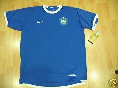 1043 NIKE TG XXL BRASILE BRASIL BRAZIL MAGLIA MAGLIETTA AWAY 2006 SHIRT JERSEY