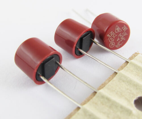 5pcs T1.6A 250 V capacitif cylindrique fusible miniature pipe lente MICRO FUSIBLE NEUF