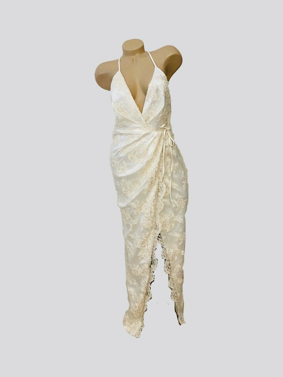 Michael Costello X Revolve Adeline Gown Ivory Nwt New Small Bridal Reg 690 Ebay