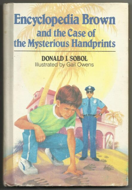 Vintage 1985 Encyclopedia Brown And The Case Of The Mysterious Handprints Book