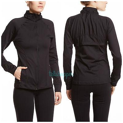 NWT SPANX Athletic Jacket BLACK Shaping Sports Exercise Shapewear L $128 Large