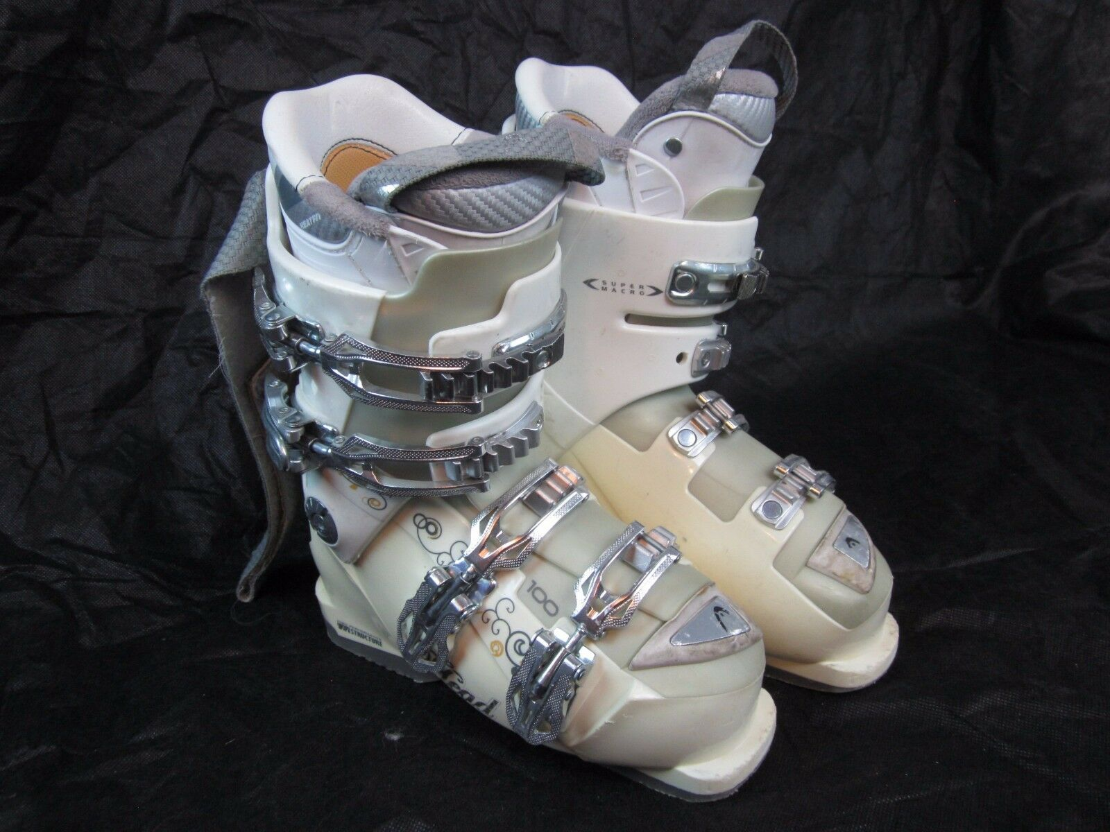 HEAD SKI BOOTS 100 FLEX TRIPLE-INJ Womens SIZE-23 23.5   with 60% off discount