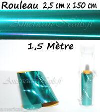 ROULEAU Foils Nail Art Foil ongle Paon Laser 150cm