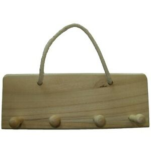 Image Is Loading Wood Plaque Sign Hooks Hanging Coat Rack Pegs