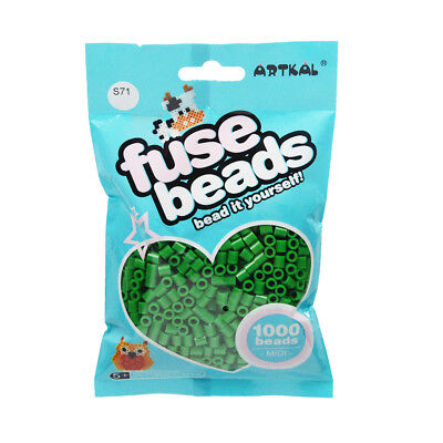 Fuse Beads Perlen PüNktlich Artkal 1000 Midi Bügelperlen 5mm Jade Green S71