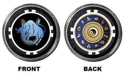 ZODIAC TAURUS Card Guard Protector Paper Weight HOLDEM POKER COVER