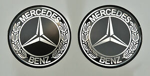 2pcs-x-MERCEDES-BENZ-30mm-Vintage-logo-Domed-3D-Stickers-Decals