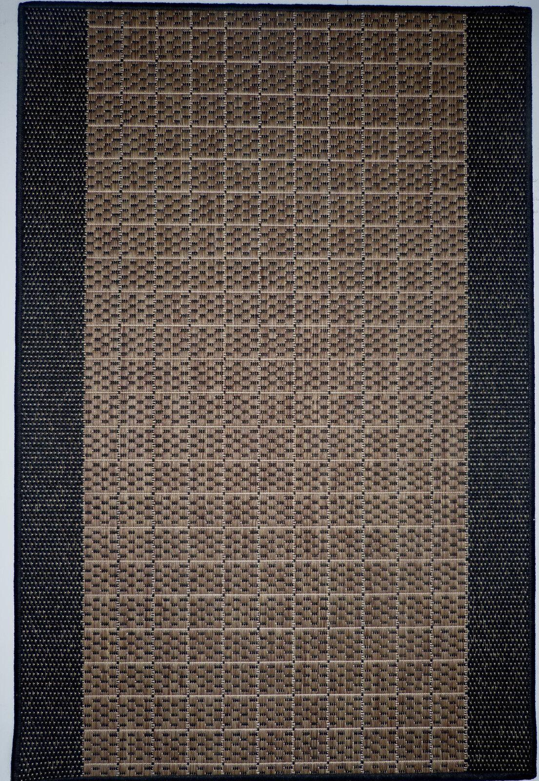 Teppichläufer Flachgewebe Braun Braun Braun Schwarz B 80 x L 450 cm Küchenläufer Rutschfest 624d6a