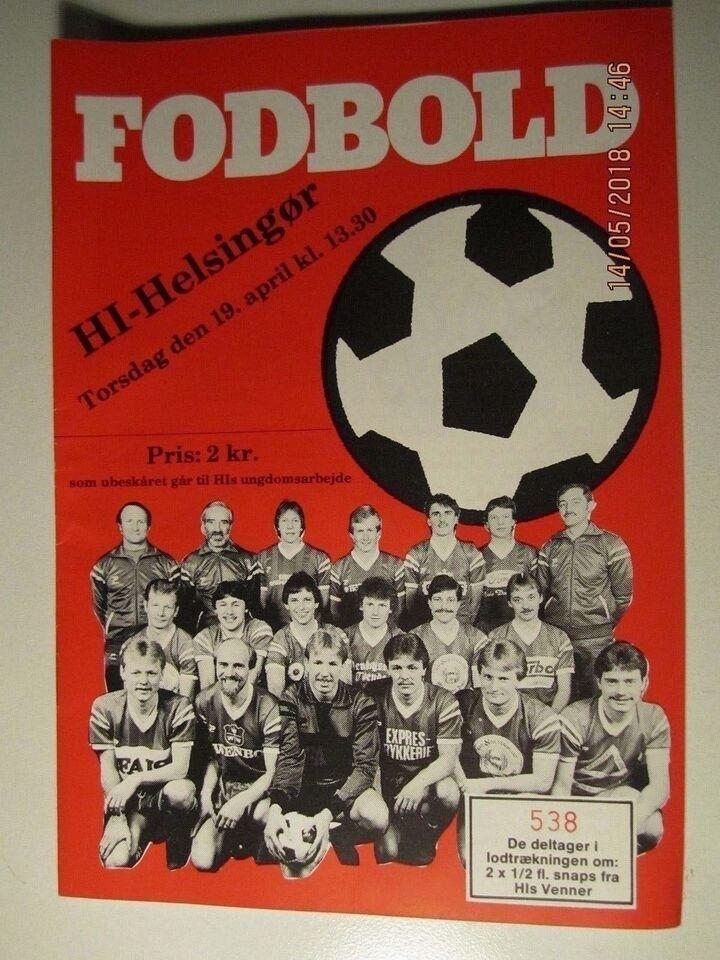 Bøger og blade, Kampprogrammer Fodbold