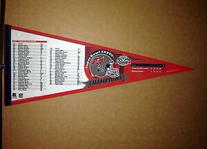 604a3727f Tampa Bay Buccaneers Super Bowl 37 Champions NFL Football Roster ...