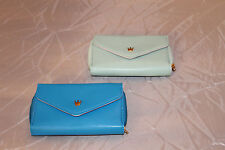 Crown Smart Pouch K Wallet Cell Blue/Green Mint With Pink Set Of Two No Straps