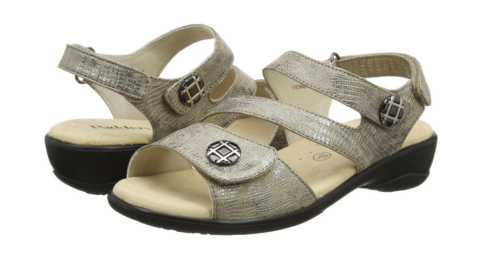 Padders Damenschuhe Vienna Ankle Strap Sandales Größe UK 5 Colour Metallic