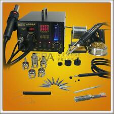 Aoyue 968A+ 4  in 1 Digital Soldering Iron & Hot Air Station Complete Kit -220V