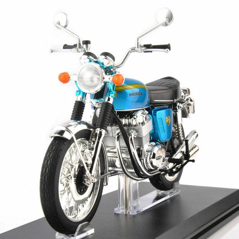 1 12 Diecast Motorcycle Car bluee Honda DREAM CB750 Alloy Kids Toy