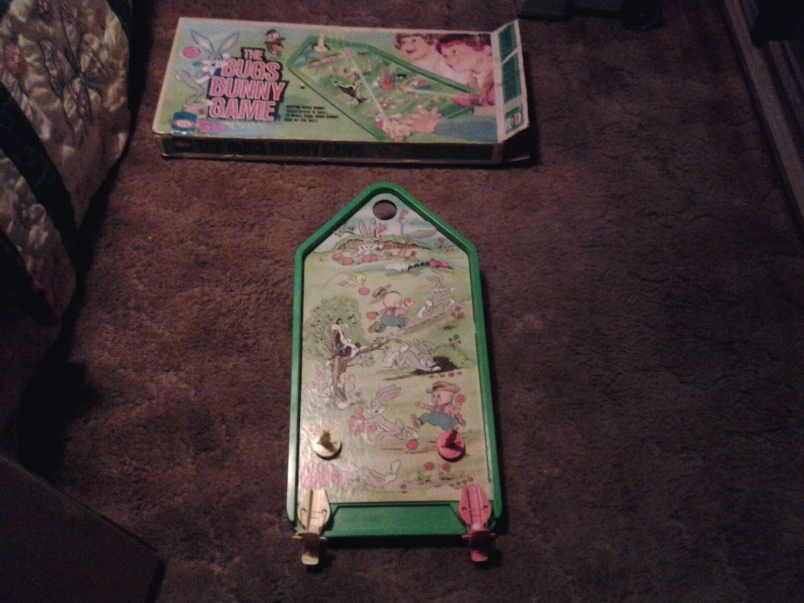 Vintage 1975 Bugs Bunny Game Pinball Action By Ideal