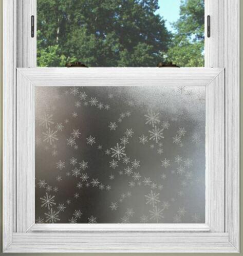 PSSC statique s/'accrochent Film De Fenêtre Pour Votre Bureau Studio Flocon de Neige Frost Design