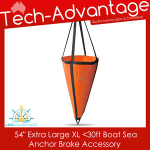 "EXTRA LARGE 54"" BOAT SEA ANCHOR BRAKE DROGUE - SUIT 30FT/9M - 1.35M X 1.42M"