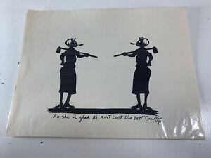 Vintage-Carew-Rice-Silhouette-PRINT-Ah-Sho-Is-Glad-Ah-Aint-Look-Like-Dat-1969