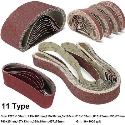 Woodworking 915mmx100mm 600 Grit Abrasive Sanding Belt Sandpaper 5pcs