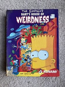 Vintage The Simpsons Barts House Of Weirdness-Konami-RARE PC game
