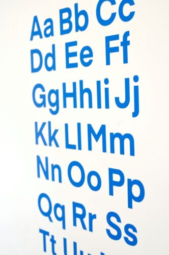 Stickers various colours and sizes Alphabet Wall Art Vinyl Decals