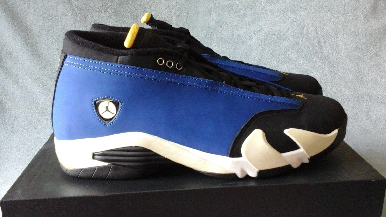 Nike Air Jordan 14 Retro Low Laney Varsity Royal 807511-405 Size 10.5