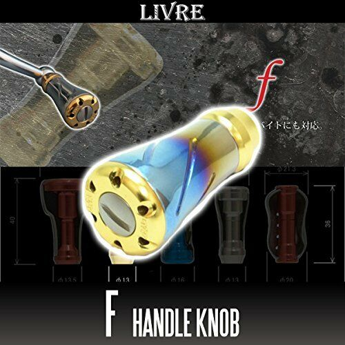 LIVRE f (forte) Titanium Handle Knob 1 piece FIRE   gold
