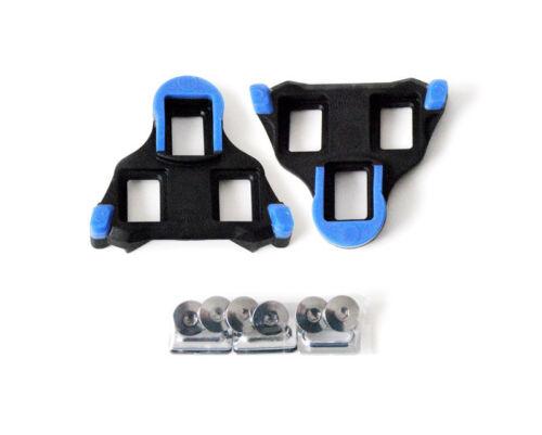 Shimano SPD SL Cleats SM-SH12 Fahrrad-Schuhplatten Bewegungsfreiheit hinten blau