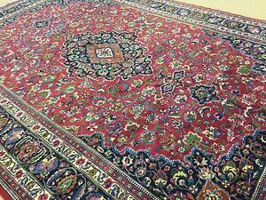 10 4 X 16 Red Purple Blue Persian Mashed Oriental Rug Oversized Hand