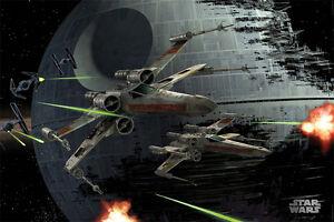 Star-Wars-Poster-X-Wings-Space-Battle-Todesstern-Film-Plakat-91-5-x-61-cm